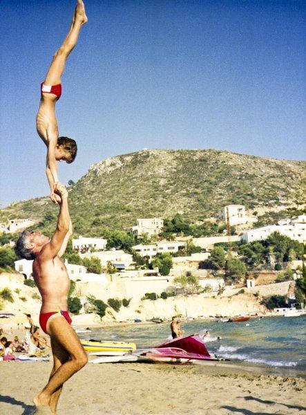 Jerome Gaspard - biographie - Cirque Main à main avec mon père - 1987