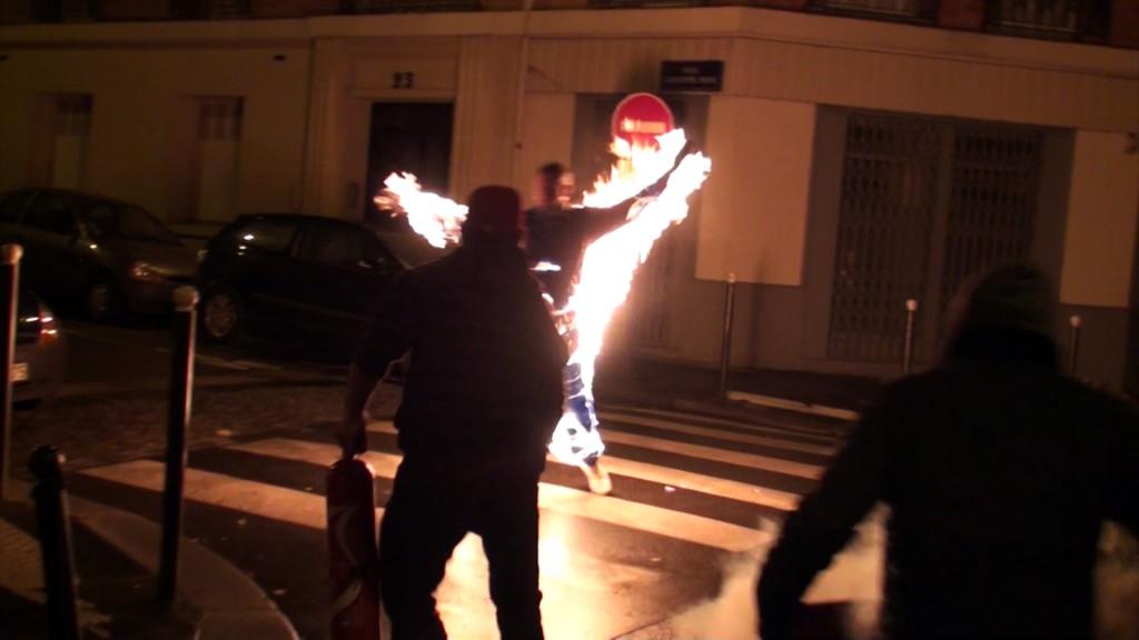 acrobatie en feu