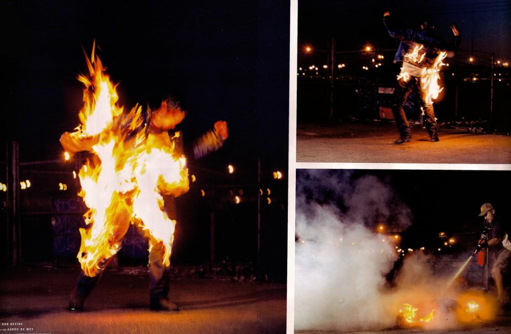 cascade - torche humaine (Mario Sorrenti)
