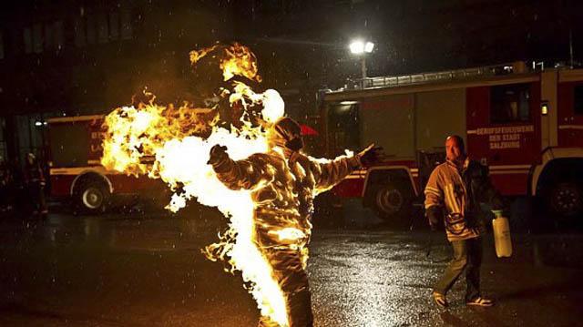 Torche humaine record du monde